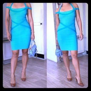 Blue Bodycon Super Sexy summer dress